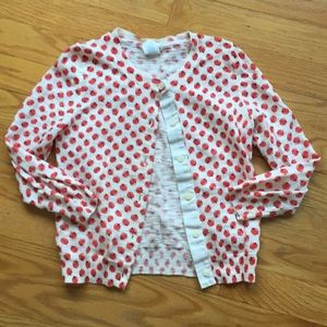 Crewcuts Apple Cardigan Size 6